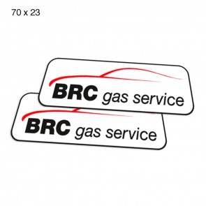 Adesivi BRC GAS SERVICE 70 x 23 cm (2pz)